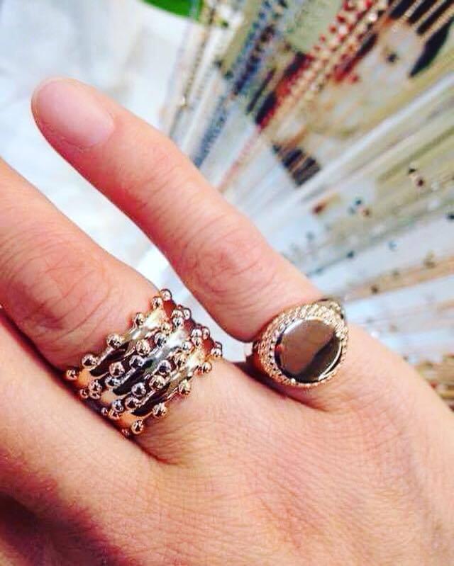 Fedine Corona e anello Queen Tondo Full